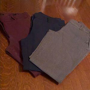 3 Pair Loft Pants size 4 Marisa Skinny